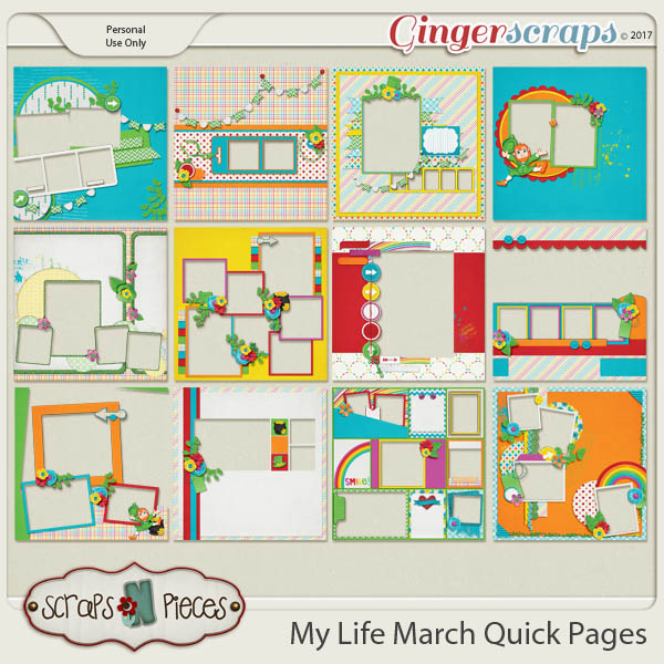My Life - March Quick Pages