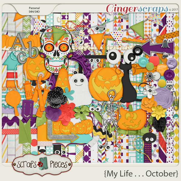 My Life - October Kit by Scraps N Pieces