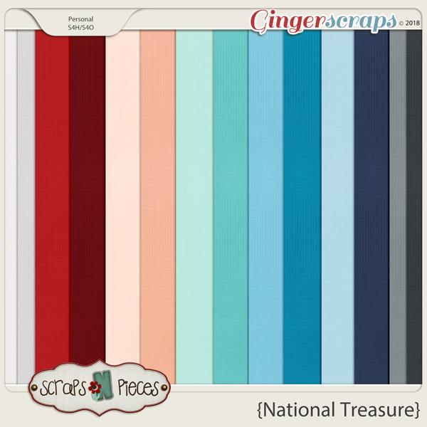 National Treasure Cardstocks by Scraps N Pieces