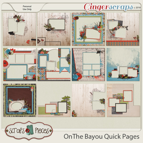 On the Bayou Quick Pages by Scraps N Pieces