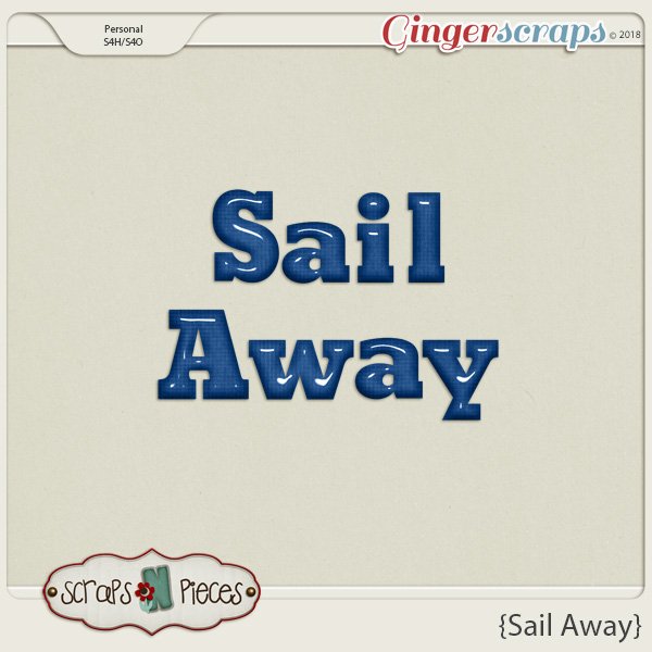 Sail Away Alpha by Scraps N Pieces