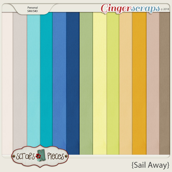 Sail Away Cardstocks by Scraps N Pieces