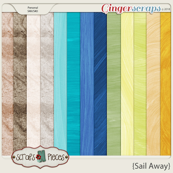 Sail Away Solids by Scraps N Pieces