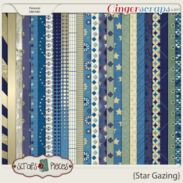 Star Gazing Paper Pack by Scraps N Pieces