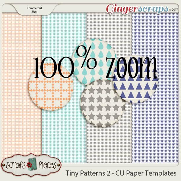 Tiny Patterns 2 CU Paper Templates - Scraps N Pieces