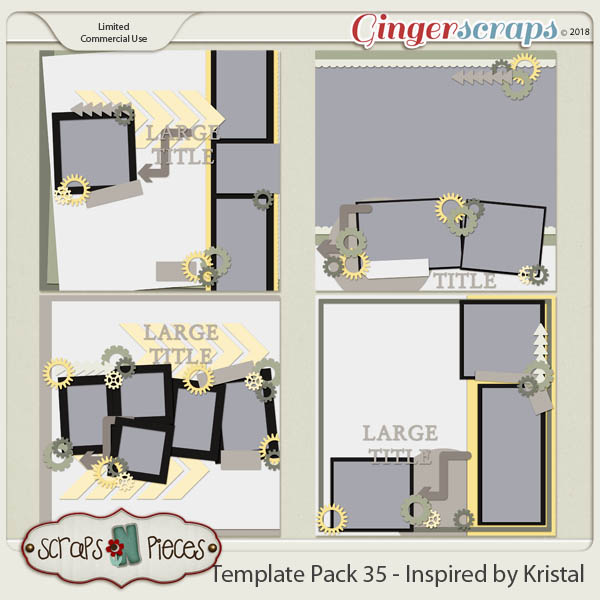 Template Pack 35 - Inspired by Kristal - by Scraps N Pieces