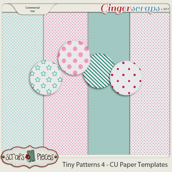 Tiny Patterns 4 CU Paper Templates - Scraps N Pieces