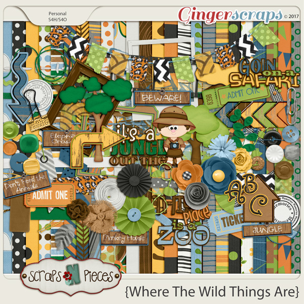 Where the Wild Things Are by Scraps N Pieces