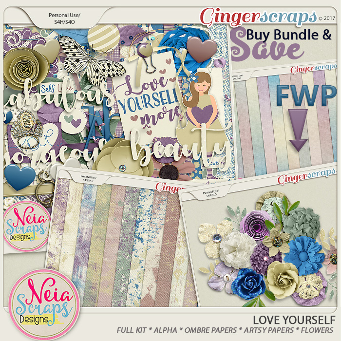 Love Yourself- Bundle + *FWP* - By Neia Scraps