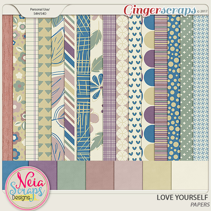Love Yourself- Papers - By Neia Scraps