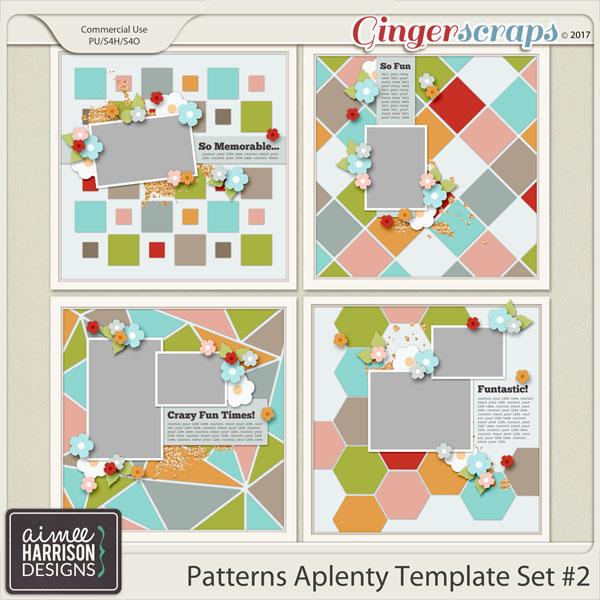 Patterns A Plenty #2 Templates By Aimee Harrison