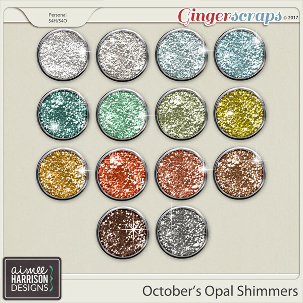 October's Opal Shimmers by Aimee Harrison