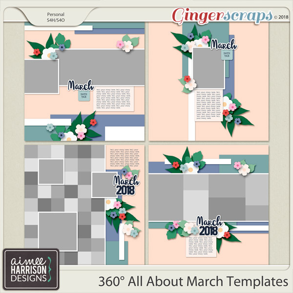 360° All About March Templates by Aimee Harrison