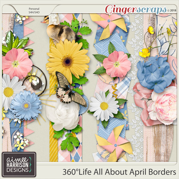 360°Life All About April Borders by Aimee Harrison