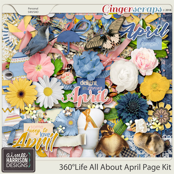 360°Life All About April Page Kit by Aimee Harrison