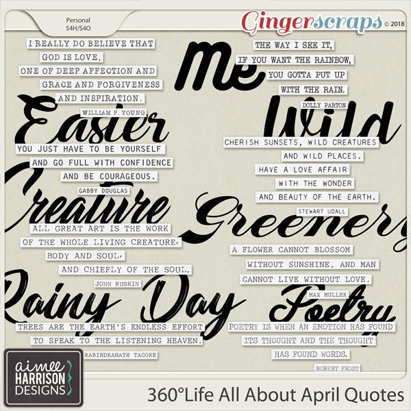 360°Life All About April Quotes by Aimee Harrison