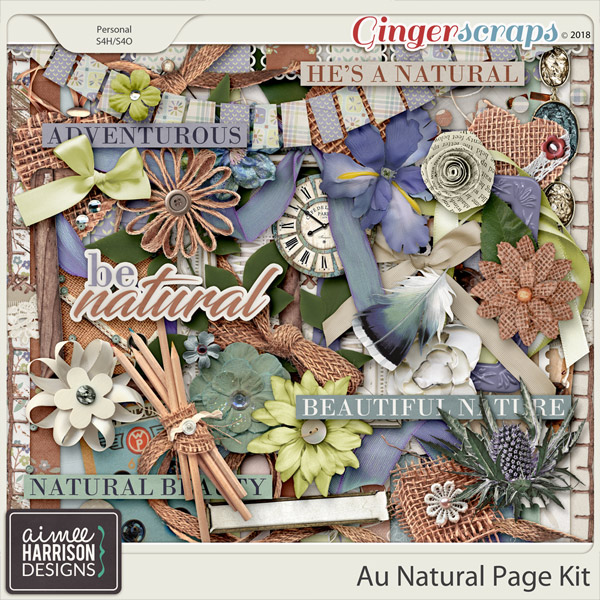 Au Natural Page Kit by Aimee Harrison