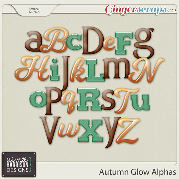 Autumn Glow Alpha Sets by Aimee Harrison