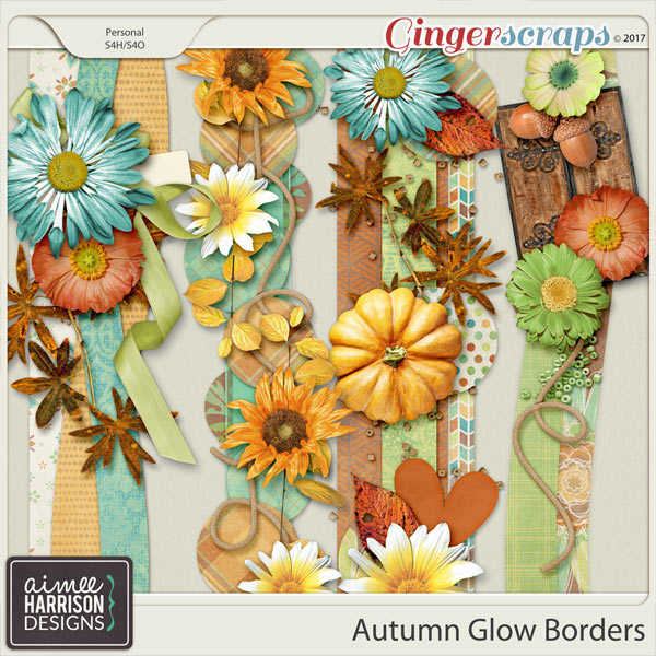 Autumn Glow Borders by Aimee Harrison