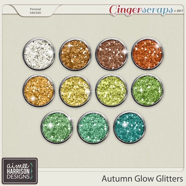 Autumn Glow Glitters by Aimee Harrison