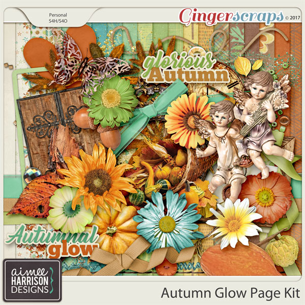 Autumn Glow Page Kit by Aimee Harrison