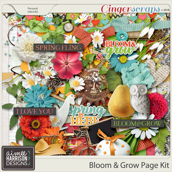 Bloom & Grow Page Kit by Aimee Harrison