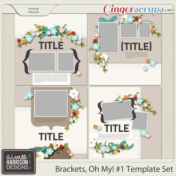 Brackets, Oh My! #1 Templates by Aimee Harrison