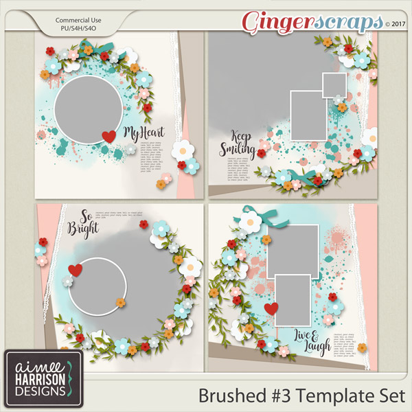 Brushed #3 Template Set Templates