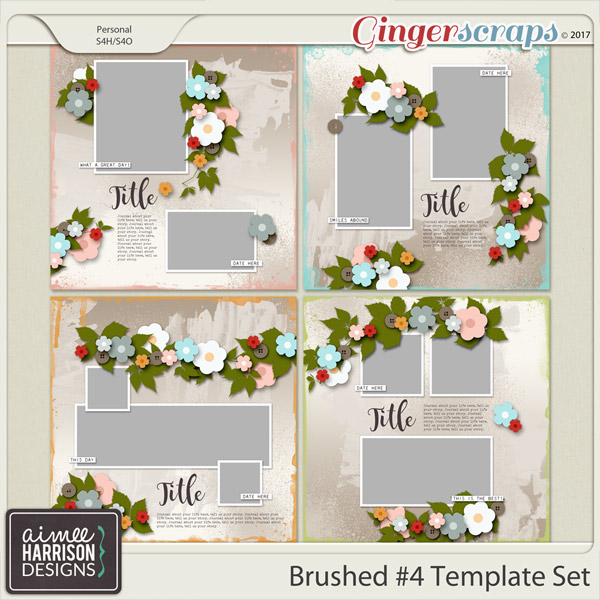 Brushed #4 Template Set by Aimee Harrison