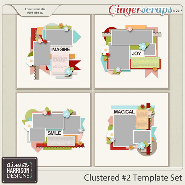 Clustered #2 Templates by Aimee Harrison