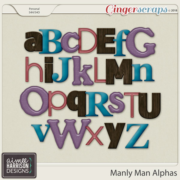 Manly Man Alpha Sets by Aimee Harrison