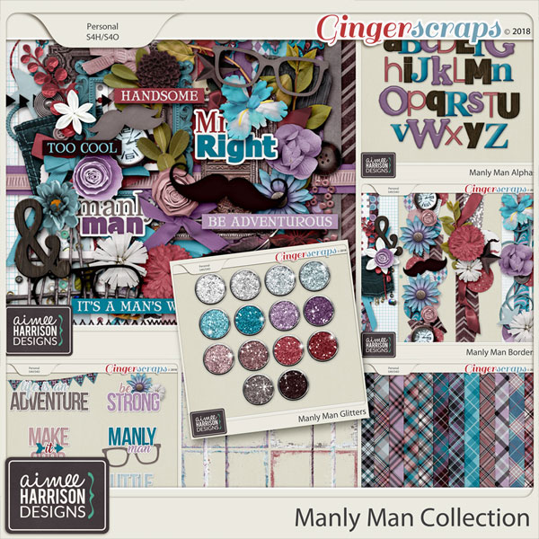 Manly Man Collection by Aimee Harrison