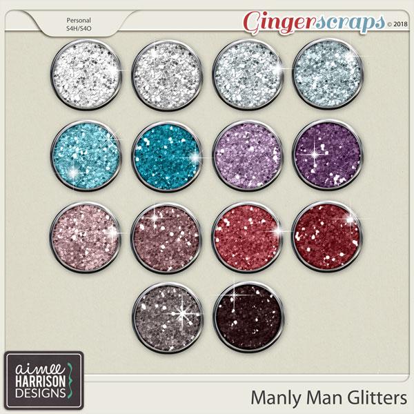 Manly Man Glitters by Aimee Harrison