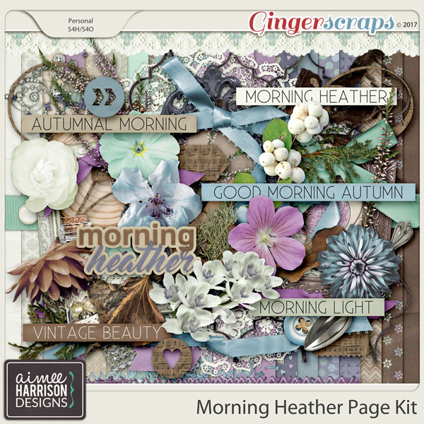 Morning Heather Page Kit by Aimee Harrison