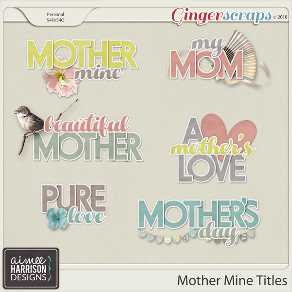 Mother Mine Titles by Aimee Harrison