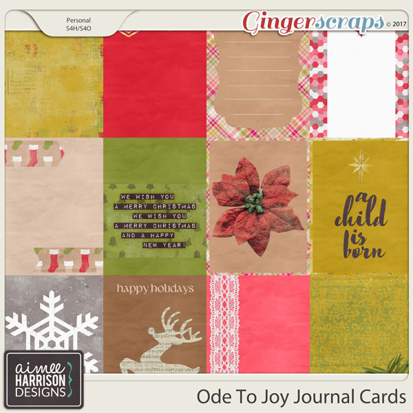 Ode to Joy Journal Cards by Aimee Harrison