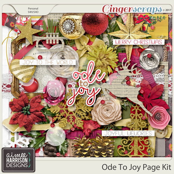 Ode to Joy Page Kit by Aimee Harrison