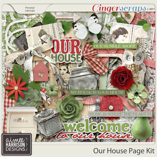 Our House Page Kit by Aimee Harrison