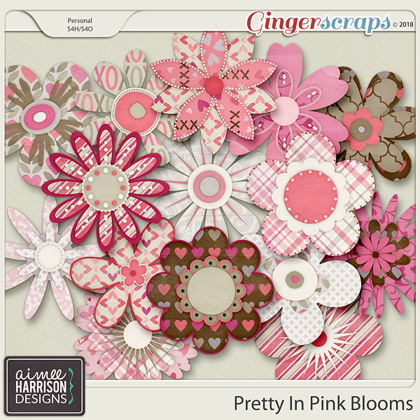Pretty in Pink Blooms by Aimee Harrison
