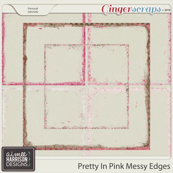 Pretty in Pink Messy Edges by Aimee Harrison