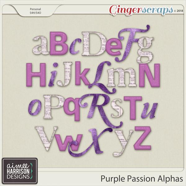 Purple Passion Alpha Sets by Aimee Harrison