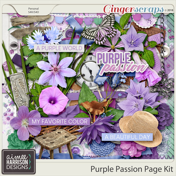 Purple Passion Page Kit by Aimee Harrison