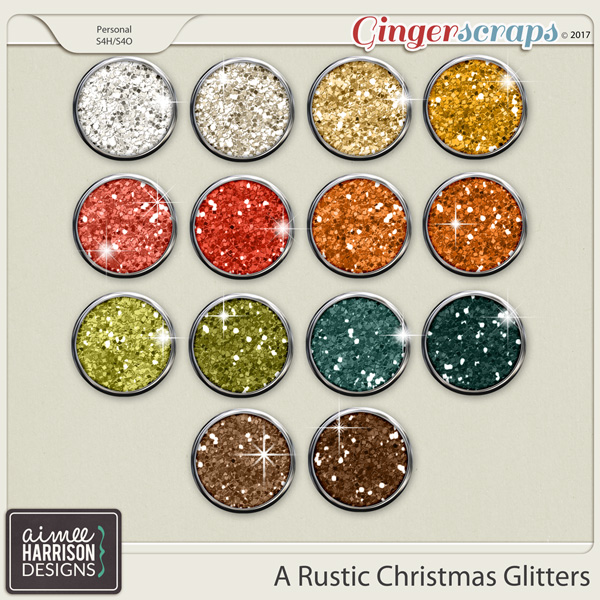 A Rustic Christmas Glitters by Aimee Harrison