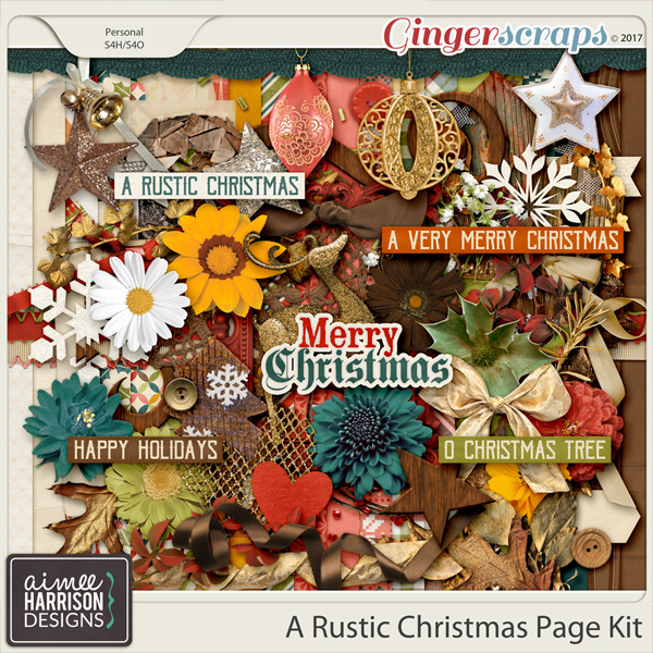 A Rustic Christmas Page Kit by Aimee Harrison