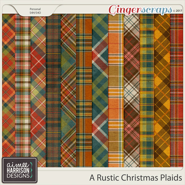 A Rustic Christmas Plaid Papers by Aimee Harrison