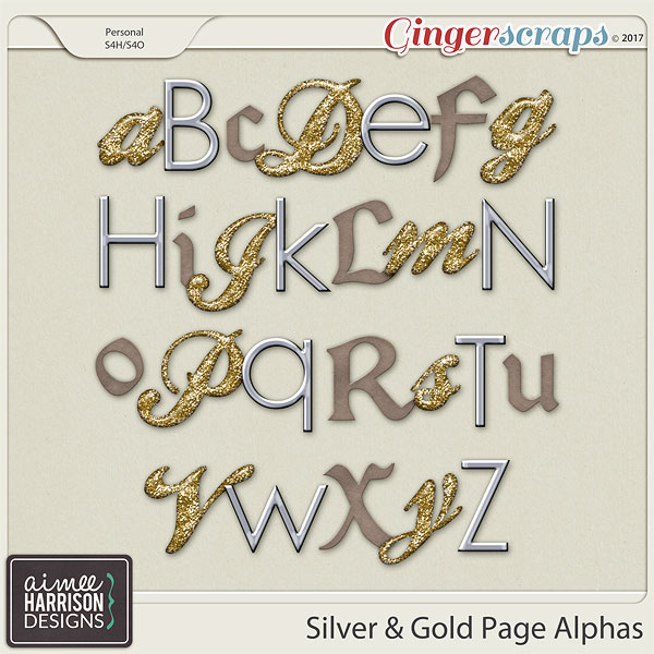 Silver & Gold Alpha Sets by Aimee Harrison