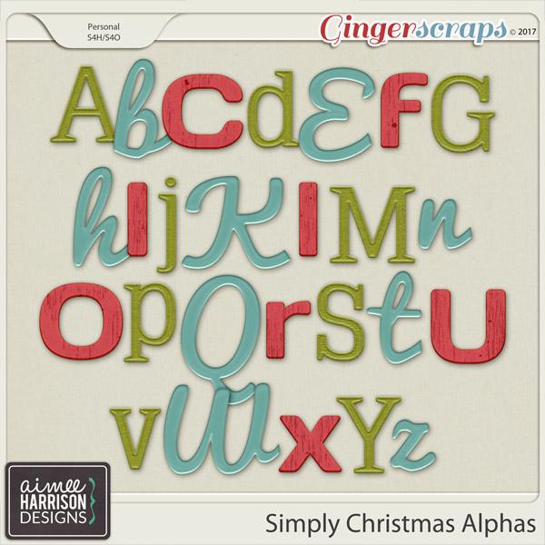 Simply Christmas Alpha Sets by Aimee Harrison