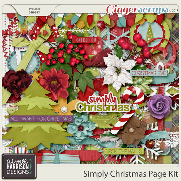 Simply Christmas Page Kit by Aimee Harrison