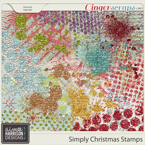 Simply Christmas Stamps by Aimee Harrison