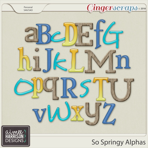 So Springy Alpha Sets by Aimee Harrison